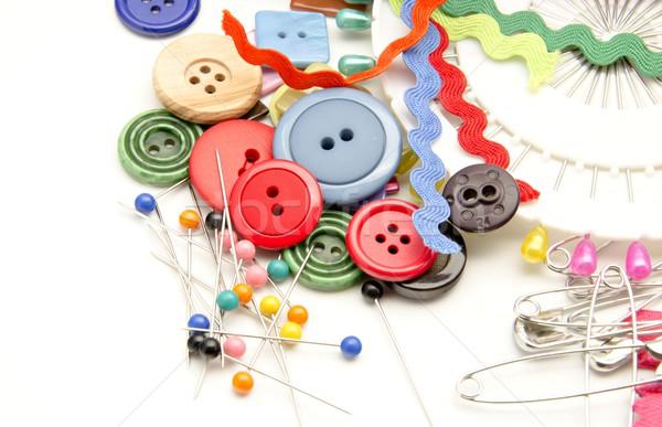 Dikiş birkaç araçları ev moda çalışmak Stok fotoğraf © dulsita