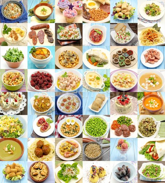 Kolaj gıda bulaşık pişmiş arka plan Stok fotoğraf © dulsita