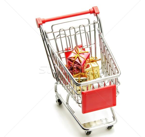 Alışveriş sepeti hediye kutuları sevmek dizayn kutu pazar Stok fotoğraf © dulsita