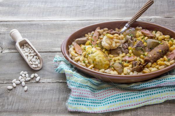 Güveç tipik güney Fransa et pişirme Stok fotoğraf © dulsita