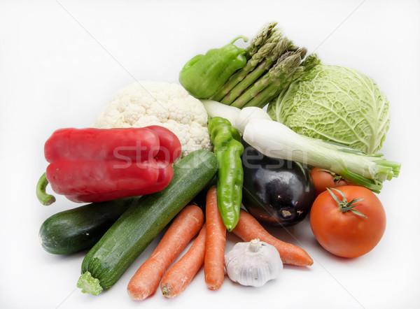 Sebze beyaz arka plan Stok fotoğraf © dulsita