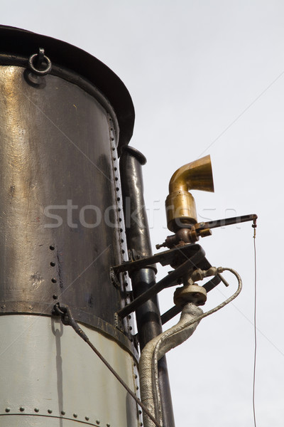 Funnel and whistle from a steamship  Stock photo © duoduo