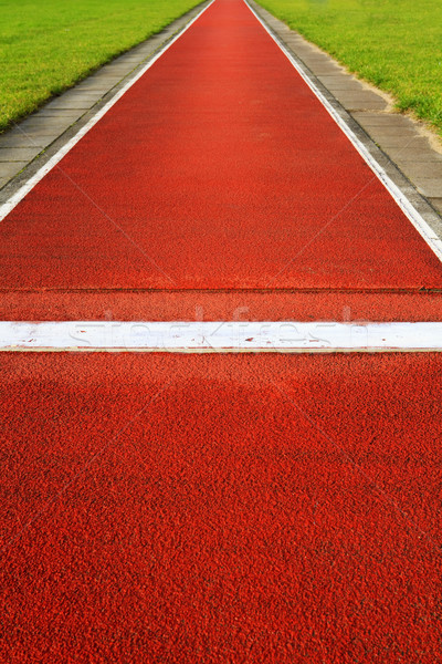 Stock photo: Long jump track