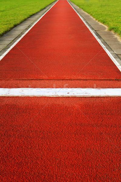 Uzun atlamak izlemek spor atletizm stadyum Stok fotoğraf © duoduo