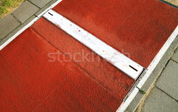 long jump spring plank close up Stock photo © duoduo
