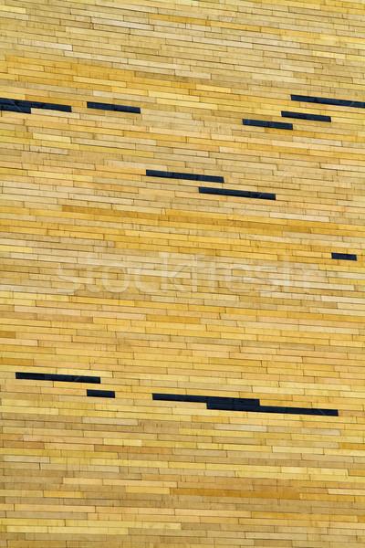 Modern yellow brick wall texture Stock photo © duoduo