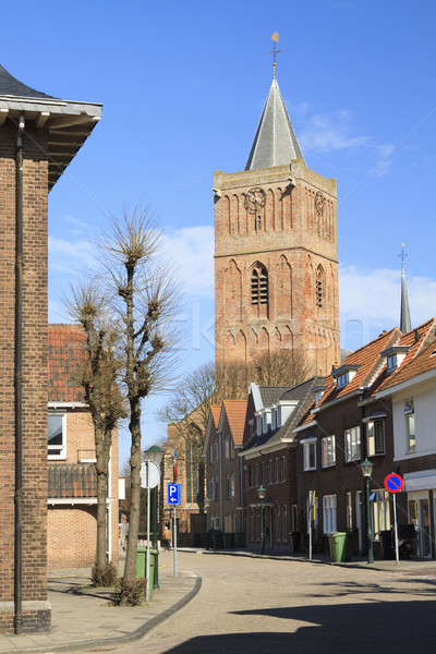 Old church in Noordwijk Stock photo © duoduo
