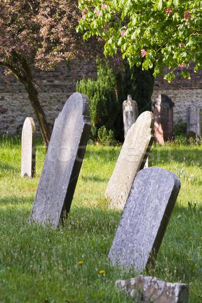 Eski Mezarlığın ülke mezarlık çim Stok fotoğraf © duoduo