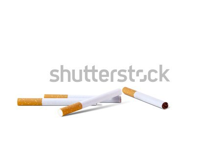 Close-up of cigarettes against white background  Stock photo © duoduo