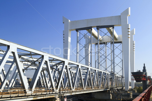Demiryolu köprü nehir inşaat manzara Metal Stok fotoğraf © duoduo