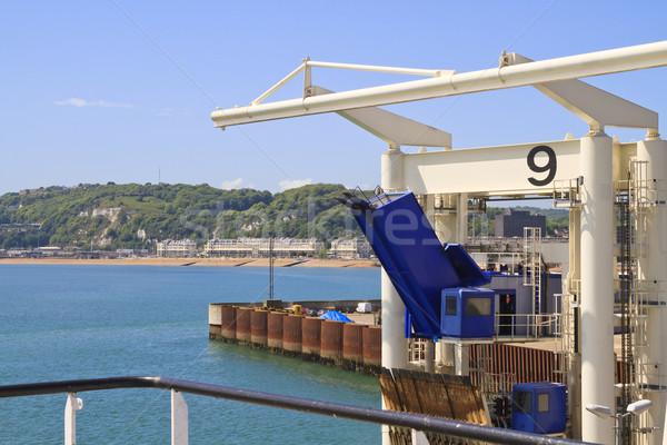 Haven Engeland auto pont Blauw schip Stockfoto © duoduo