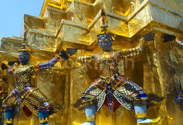 Guardião palácio Bangkok dois arte verão Foto stock © duoduo