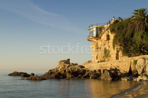 Gündoğumu İspanyolca işaret güney sahil plaj Stok fotoğraf © duoduo