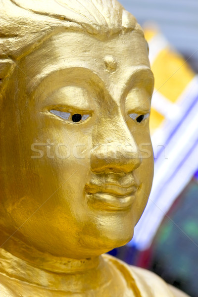 Stock photo: Buddha's face in the Grand Palace in Bangkok