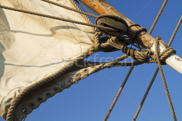 Details of an old sailing ship Stock photo © duoduo