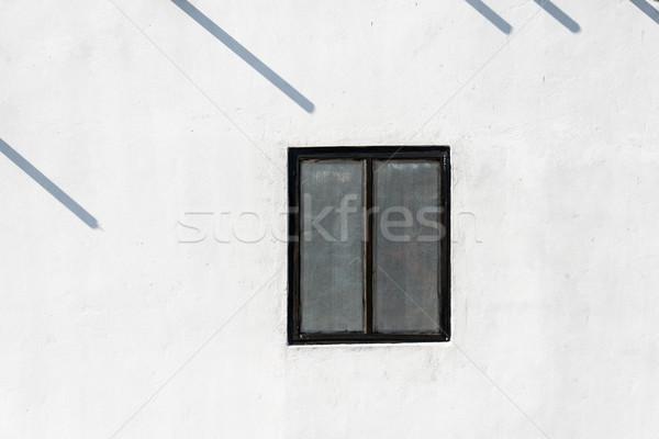 ウィンドウ 白 壁 テクスチャ 建物 建設 ストックフォト © dutourdumonde