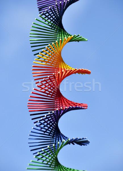 Сток-фото: радуга · спиральных · небе · оранжевый · зеленый