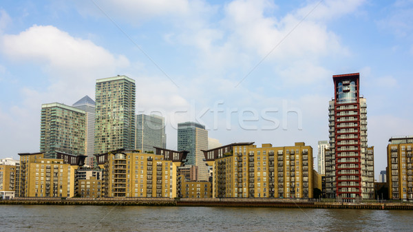 Canary Wharf skyline, London Stock photo © dutourdumonde
