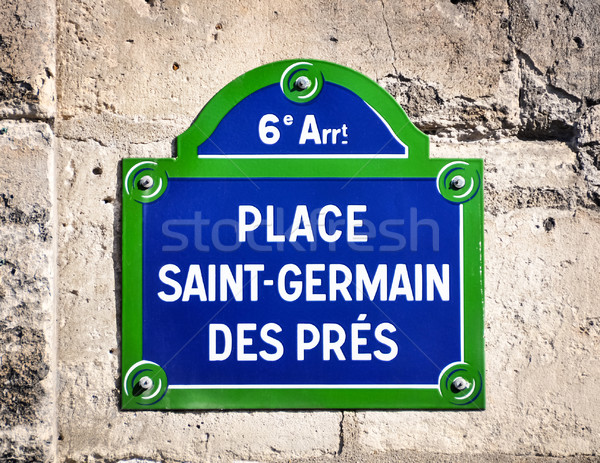 Place Saint-Germain des Pres street sign  Stock photo © dutourdumonde