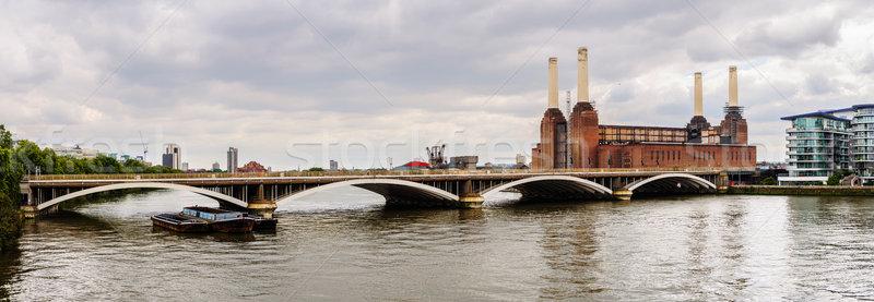 パノラマ 表示 発電所 ロンドン レール 橋 ストックフォト © dutourdumonde