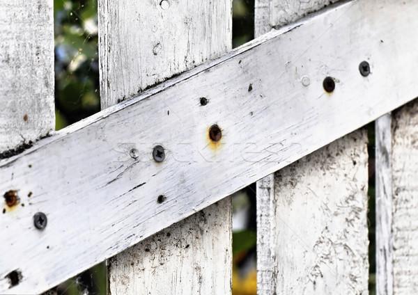 White wooden door detail Stock photo © dutourdumonde