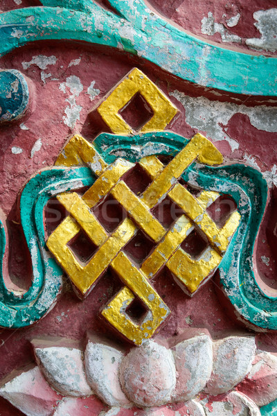 Golden endless knot Stock photo © dutourdumonde