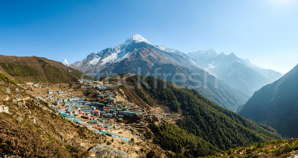Namche Bazaar in Nepal Stock photo © dutourdumonde