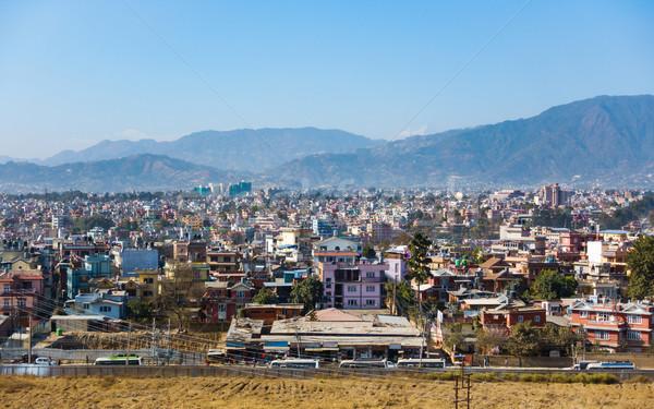 Város Nepál pont dombok hegyek utca Stock fotó © dutourdumonde
