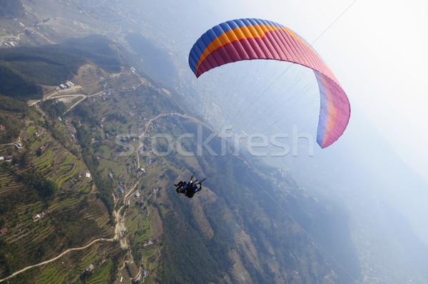 тандем Непал небе спорт зеленый Сток-фото © dutourdumonde