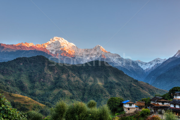 Köy Nepal bölge hdr doğa manzara Stok fotoğraf © dutourdumonde