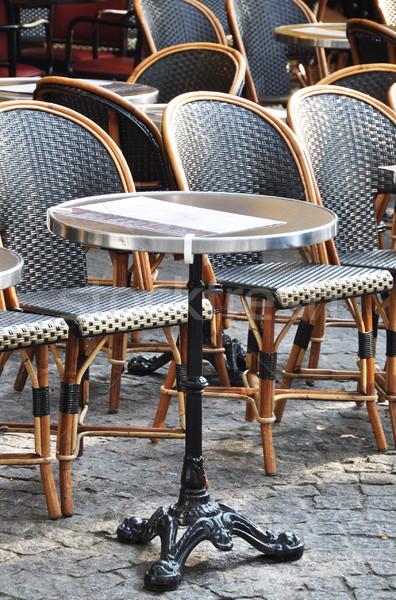 парижский кафе терраса традиционный Париж Франция Сток-фото © dutourdumonde