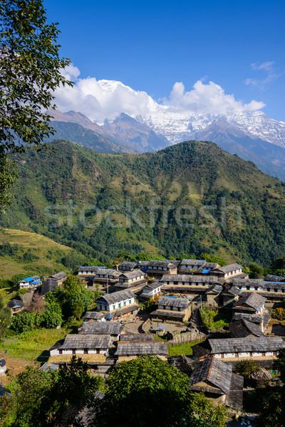 Ghandruk village in the Annapurna region Stock photo © dutourdumonde