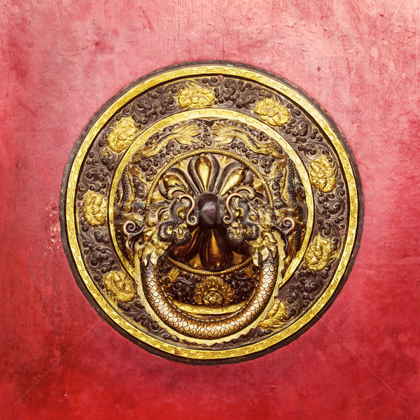 Tibetan door knocker Stock photo © dutourdumonde
