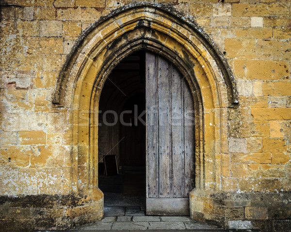 Church entrance Stock photo © dutourdumonde