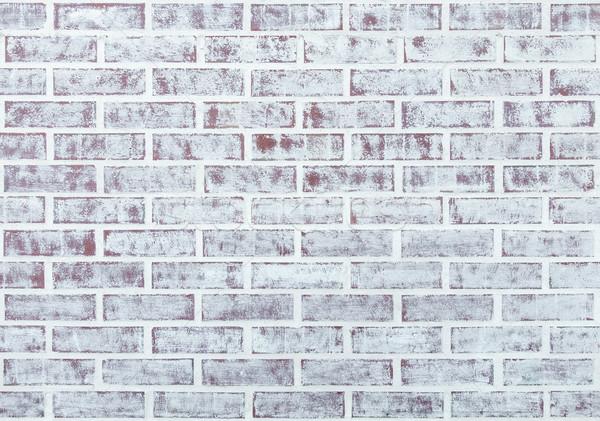 Whitewashed brick wall Stock photo © dutourdumonde