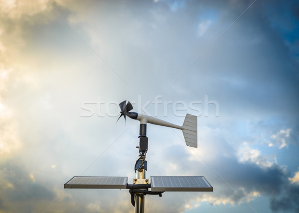 Anenometer against a dramatic sky Stock photo © dutourdumonde