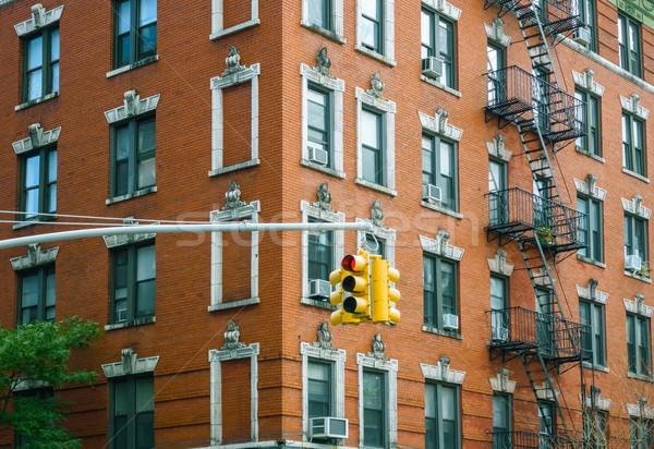 Budynku fasada światłach Nowy Jork USA miasta Zdjęcia stock © dutourdumonde