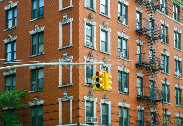 Bâtiment façade feu New York City USA ville Photo stock © dutourdumonde