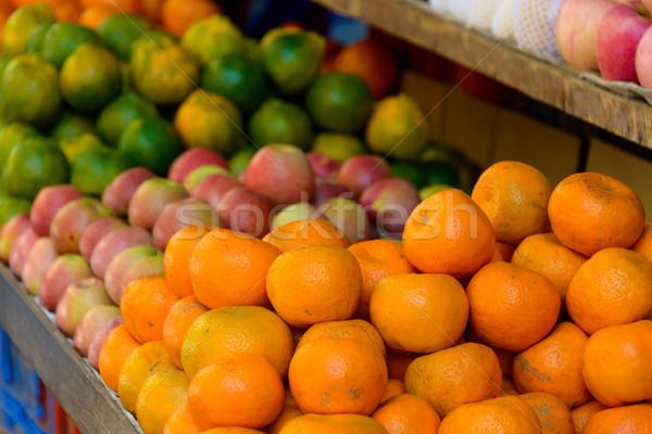 Fruits on a market stand Stock photo © dutourdumonde