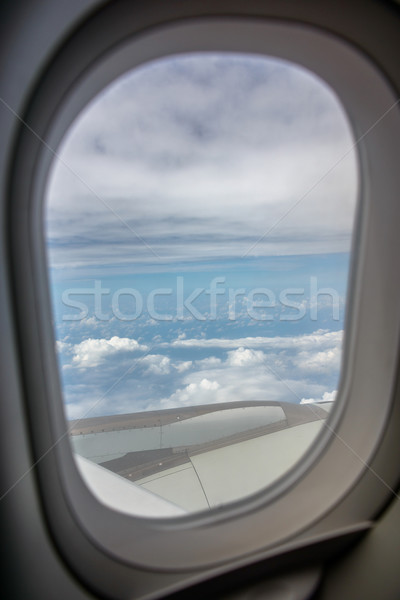 Airplane window Stock photo © dutourdumonde