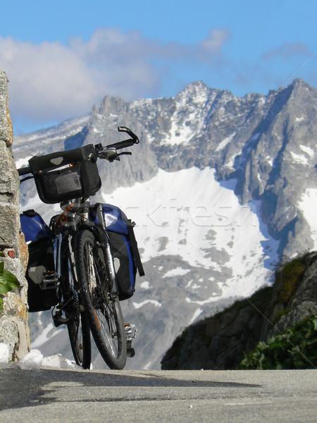 旅行 自転車 先頭 合格 スイス 春 ストックフォト © dutourdumonde
