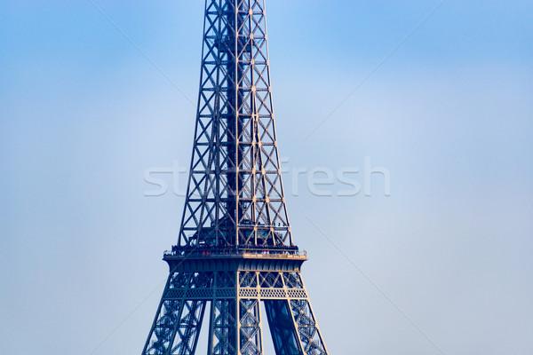Eyfel Kulesi Paris Fransa gökyüzü seyahat Stok fotoğraf © dutourdumonde