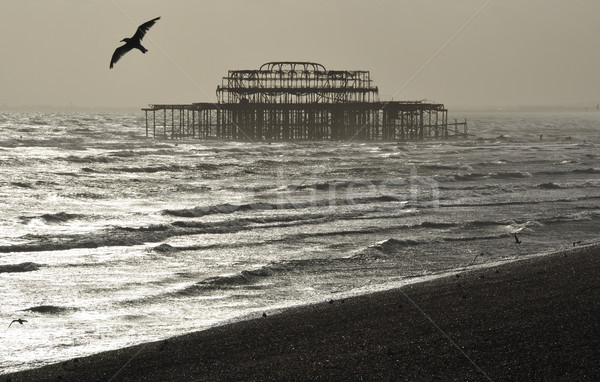 Westen Pier nice Winter Tag england Stock foto © dutourdumonde