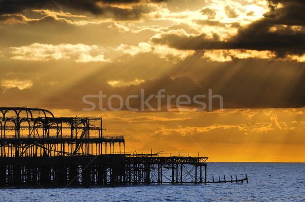 The West Pier in Brighton at sunset Stock photo © dutourdumonde
