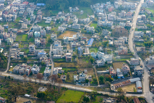 Suburbs of Pokhara aerial view Stock photo © dutourdumonde