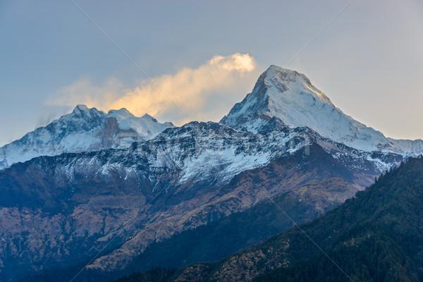 Gündoğumu Nepal güney doğru doğa manzara Stok fotoğraf © dutourdumonde