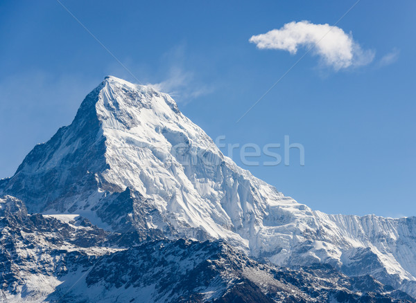 Annapurna South in Nepal Stock photo © dutourdumonde