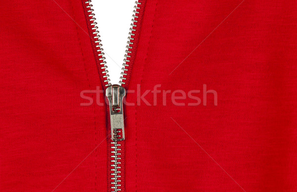 Zip of a red cotton sweater Stock photo © dutourdumonde