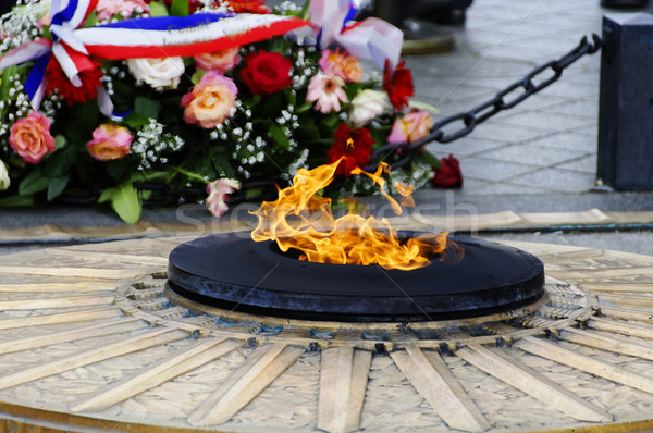 The flame of the unknown soldier in Paris Stock photo © dutourdumonde