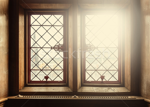 Old windows with lens flare Stock photo © dutourdumonde